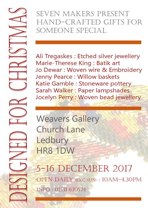 Weavers Gallery 5-16 December 2017