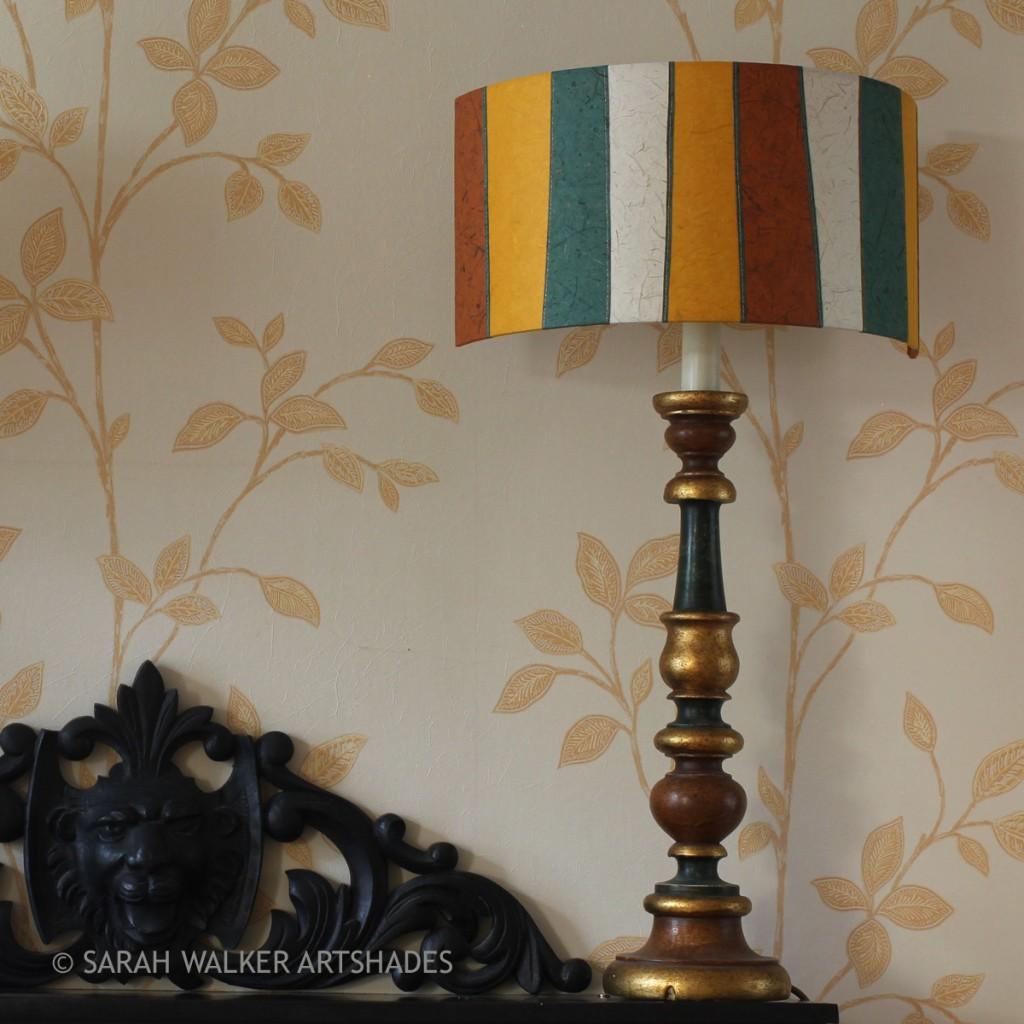 Mantelshelf half lamp