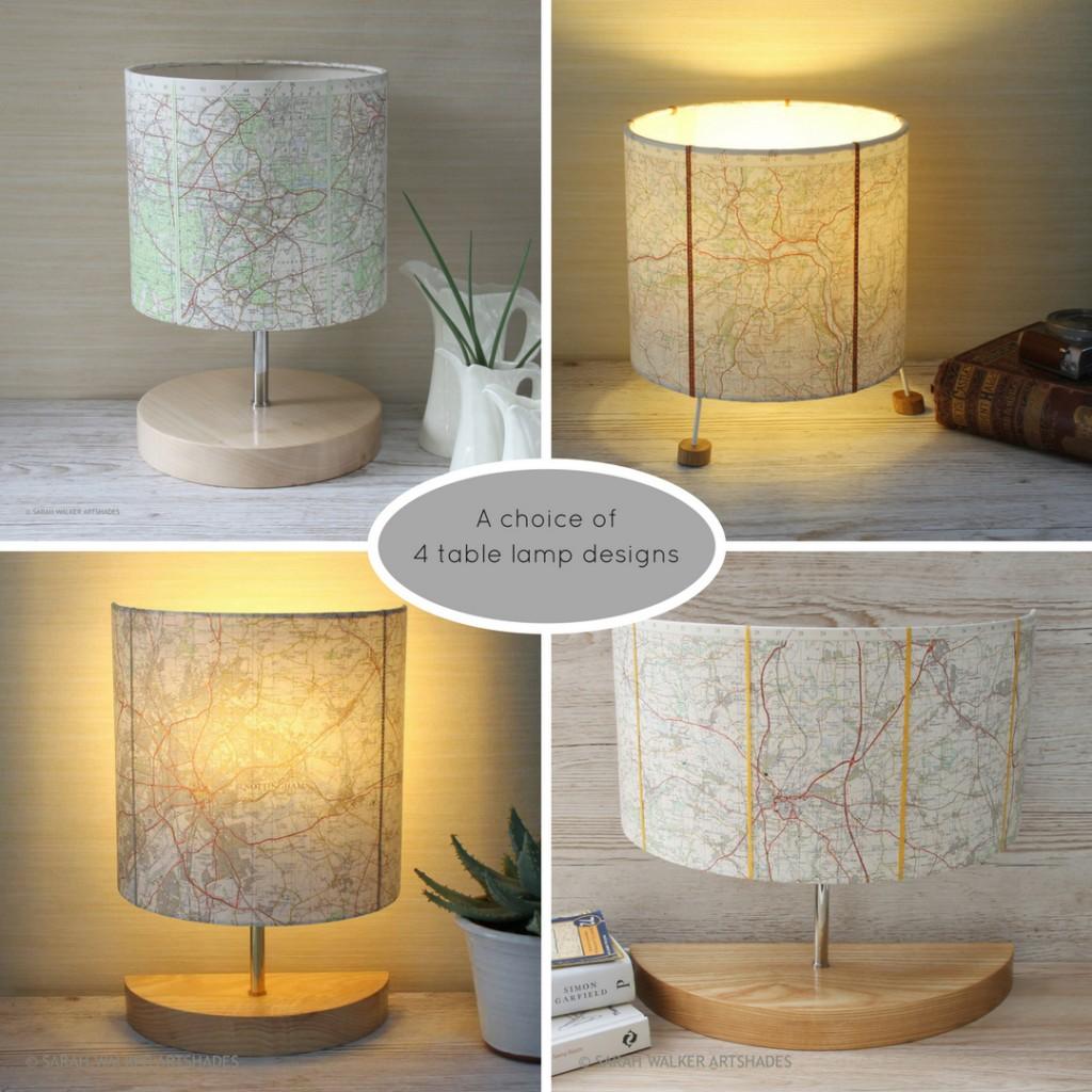 map table lamp designs