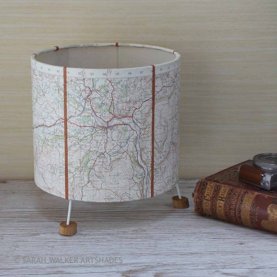 Builth Wells map lamp