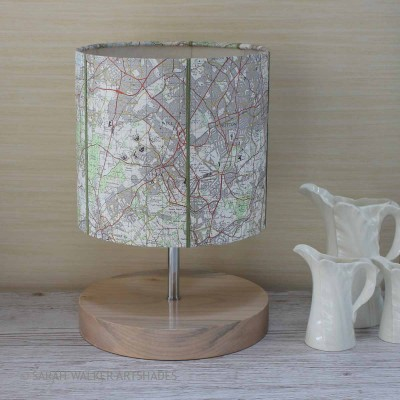 Epsom map lamp