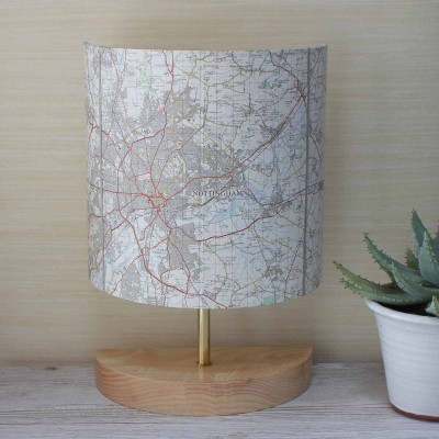 Nottingham OS map lamp
