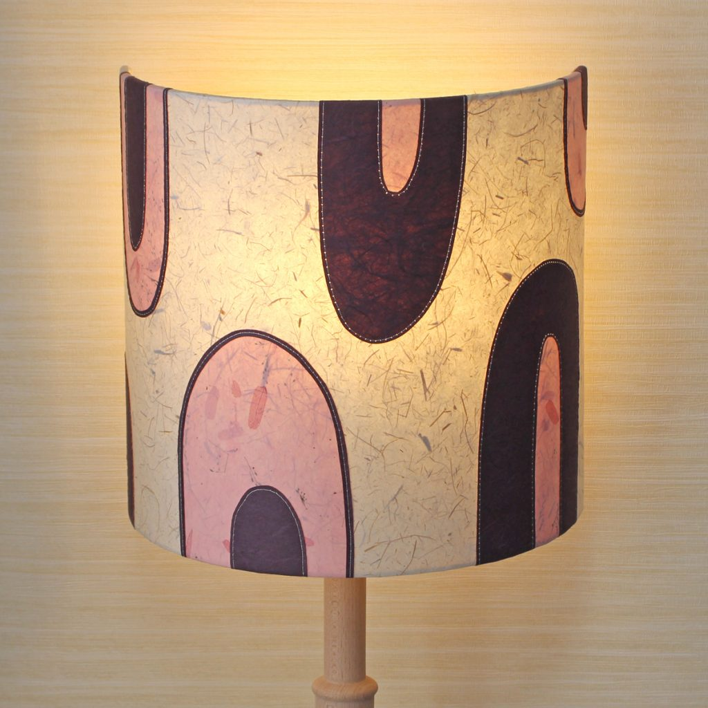 retro pink lampshade