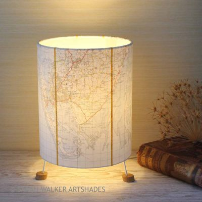 Barrow-in-Furness map lamp