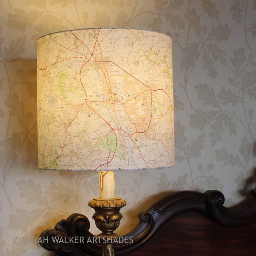 Map Shade Table Lamps Sarah Walker Artshades