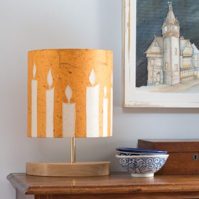 Mustard Candles Console Lamp