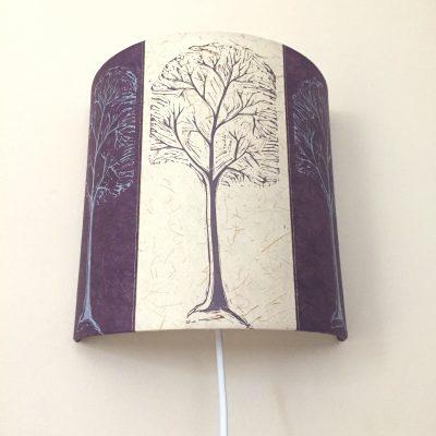 Linocut Trees purple